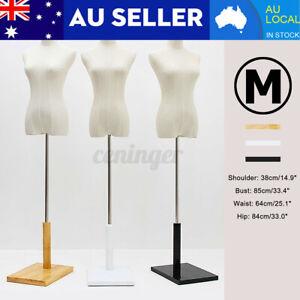 M-Size Female Mannequin alf Model Torso Adjustable Dressmaker Clothes Disp
