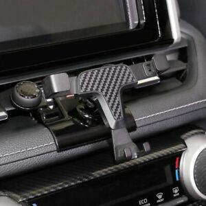 Kohlefaser Look Inner Telefon Halter Halterung für Toyota RAV4 XA50 2019-2021