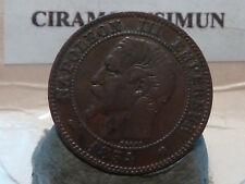 CIRA(28)(7) - 2 CENTIMES - NAPOLEON III - 1854 K - QUALITE TTB ! RARE !