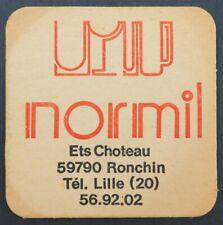 Ancien Sous-bock bière NORMIL Ronchin Kanterbrau beermat coaster Bierdeckel 13
