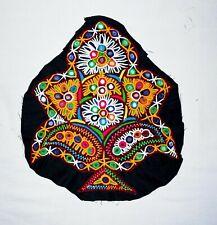 Indien Handmade Aiguille Brodé Noir Créateur Arbre Vintage Patch Artisanat Décor