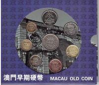 MACAO MACAU - 8 DIF COINS SET 10 AVOS - 1 PATACA DIF YEARS IN FOLDER