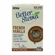 French Vanilla Stevia Packets 75/box by Now Foods