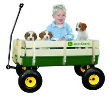 John Deere Steel Stake Wagon - Heavy Duty Kids Trailer For The Garden