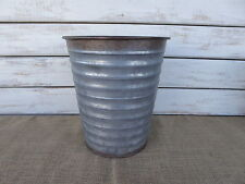 Large Vintage Inspired Galvanized Metal Bucket Vase Wedding Farmhouse Decor NEW