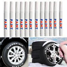 12pcs/Set White Waterproof Permanent Car Tyre Tire Tread Rubber Paint Marker Pen