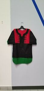 African clothing for men-red black and green Dashiki M-5X