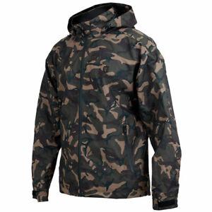 Fox Carp Fishing Clothing Range - RS 10k Waterproof Camo Jacket - All Sizes