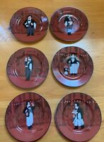 "Williams-Sonoma Guy Buffet LES GARCONS 8 1/4"" Salad Plates Complete Set of 6"