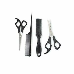 4pc Pro Unisex Hair Care Set Comb Scissors Grooming trimmer Set