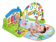 3 in 1 Baby Gym Play Mat Lay & Fitness Music Lights Fun Piano Boy Girl Unisex