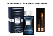 Hommage a l'Homme Voyageur by Lalique 5ML or 10ML atomizer travel spray