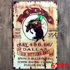Metal Tin Sign rodeo Decor Bar Pub Home Vintage Retro Poster Cafe ART