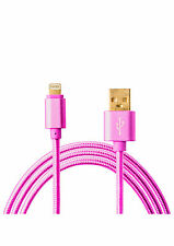 High Speed Braided Sync USB Data Cable Charger Lead For iPhone 6/ 7, iPad, iPod