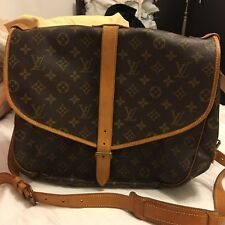Authentic Louis Vuitton monogram Saumur shoulder bag