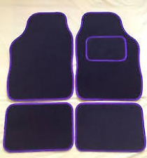 VAUXHALL CORSA UNIVERSAL Car Floor Mats Black Carpet & Purple Trim