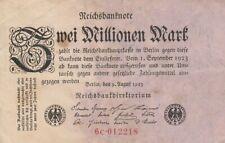 * Ro. 102c - 2 millones de marcos-Deutsches Reich - 1923-Fz: C *