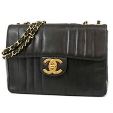 Authentic Chanel Vintage Vertical Quilted Jumbo Flap