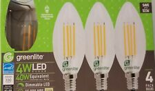 2 Packs of 4 Greenlite LED Chandelier Light Bulb (2 - 4 Packs)  4W ea