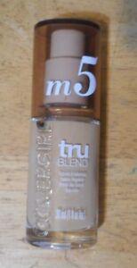 1 bottle CoverGirl TruBlend Liquid Makeup M5 CARAMEL BEIGE unsealed