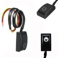 DC12V 200mA Auto KFZ LED Weiß Drucktaster Druckknopf Taster Schalter Aus/Ein