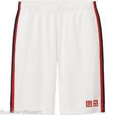 UNIQLO x Novak Djokovic 2015 U.S. Open Tennis Shorts MEDIUM Dry-Ex White **NWT**