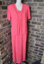 KStudio Women's Size 10 PinkDress 2 Piece Dress With Jacket Vintage Maxi BA