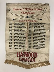 Harwood Canadian National Hockey League Stanley Cup Winner Vintage Banner
