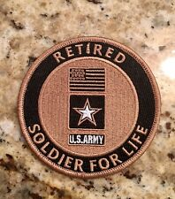 U.S. Army - Soldier For Life - Medium Embroidered Patch - New Style W/Velcro