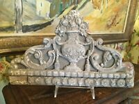 French Architectural Wood Fragment 19th Century Hand Carved  Bouquet