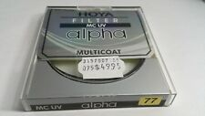 77mm Hoya Alpha Multi-Coated MC UV Optical Glass Lens Filter #C-ALP77UV 77 mm