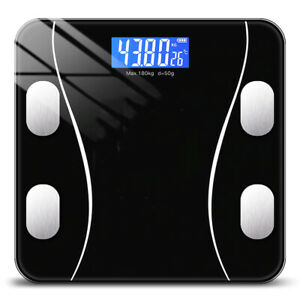 Smart Body Scale Digital Bathroom Weight w/ LCD Display Bluetooth iOS Android