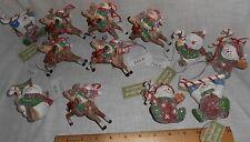 11 New Snowman Reindeer Lot Christmas Tree Ornament Midwest Snowmen Free Shippin
