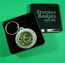 SWIMMING English Pewter Keyring  FREE UK POST swimmer pool  Sport Key Ring
