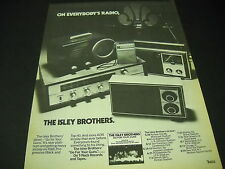 ISLEY BROTHERS May 28 - Aug 26, 1977 GO FOR YOUR GUNS Tour Dates PROMO POSTER AD