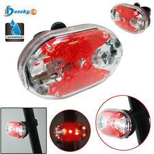 9 LED Waterproof Bike Bicycle Safety Front Tail Light Lamp Back Rear Flashlight