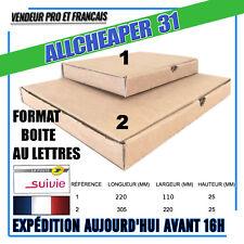 Boite carton boite postal expédition format boite au lettre moins de 3 cm (25mm)