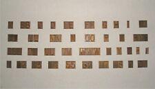 New Herms Engraving Font Set Single Line Capital Upper Case Letters 24d