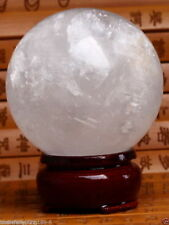 100MMNATURAL RAINBOW CLEAR QUARTZ CRYSTAL SPHERE BALL HEALING GEMSTONE