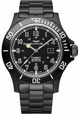 Herrenuhr Glycine Combat Sub 48mm Automatic Watch UP 890,- All Black Ref. GL0096