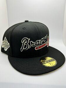 Burdeens Exclusive Atlanta Braves 59fifty 95 World Series Patch Yellow UV 7 1/2