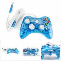 USB Wired Control Telecomandoler gioco Gamepad per Microsoft Xbox 360 PC Blu IT