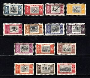 Bolivia stamps #352 - 358, C150 - 156, MNHOG, XF, complete set, SCV $24.70