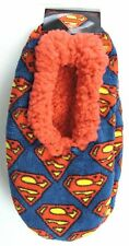 Superman Fuzzy Cozy Slippers Hyp DC Comics Womens Size One Size Fits Most NEW