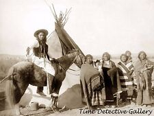 Group of Lakota Indians, Pine Ridge, South Dakota -1891- Historic Photo Print