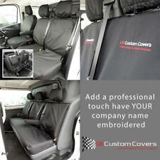 VAUXHALL VIVARO DOUBLE CAB 2014-19 SET OF SEAT COVERS INC EMBROIDERY 188 189 BEM