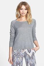 Glamorous  - Womens S - NWT$48 - Heather Gray Wool Blend Dolman Crew Sweater