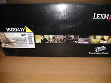 Genuine Lexmark 15G041Y Yellow Toner Cartidge  NIB Free Shipping