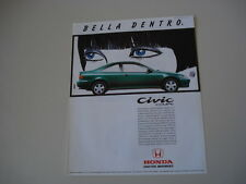 advertising Pubblicità 1994 HONDA CIVIC COUPE'