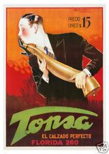 ADVERTISEMENT ART PRINT Tonsa Shoe - Achille Mauzan 38x27 Vintage Poster Florida